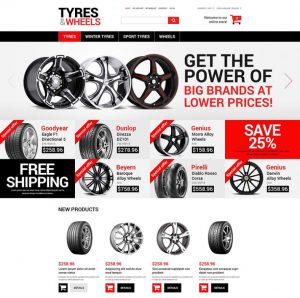 ecommerce website template online wheels and tyres store magento theme x