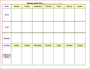 editable cleaning schedule template meal planner template meal plan template