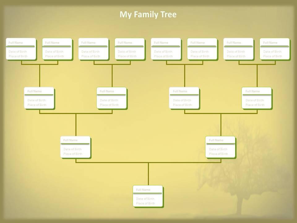 editable family tree template