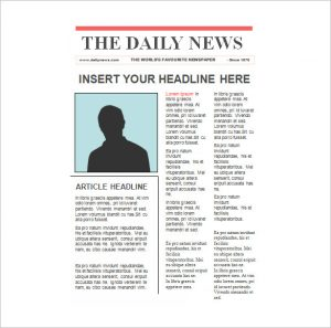 editable newspaper template editable newspaper template in ppt format