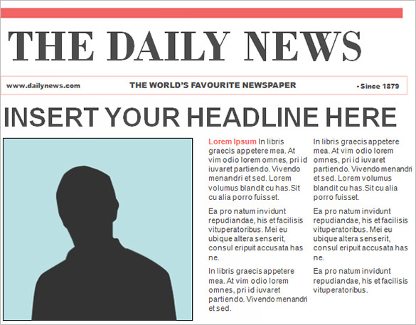 editable newspaper template