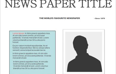 editable newspaper template free editable newspaper template