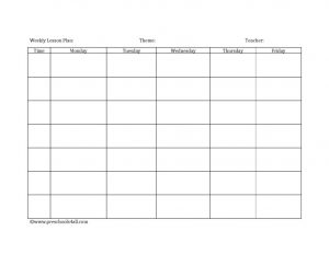 editable weekly lesson plan template free printable blank lesson plan template x