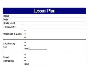 editable weekly lesson plan template lesson plan template