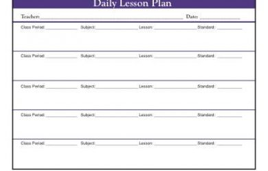 editable weekly lesson plan template secondary daily multi class period