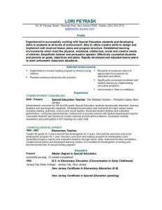 educational resume template free teacher resume template