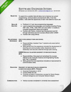 electrical engineer resume software engineer intern resume sample imagel