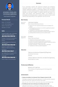 electronic technician resume automationengineerresume example