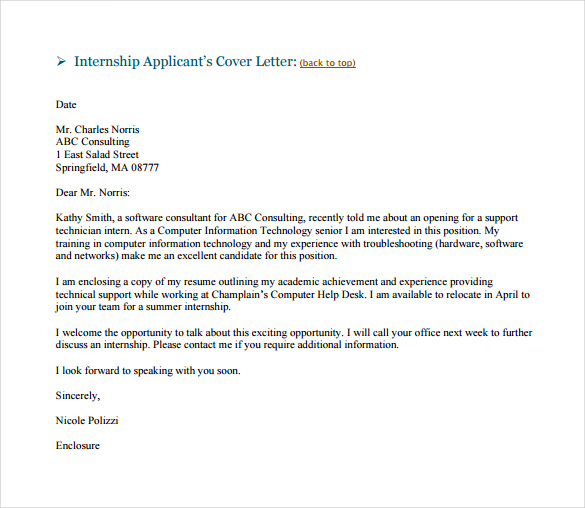 Email Cover Letter Sample  Template Business