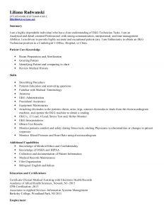 email cover letter template liliana radwanski ekg resume
