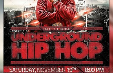 email flyer template underground hip hop flyer