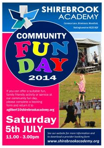 email flyer template community fun day flyer
