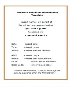 email invitation template business lunch email invitation template