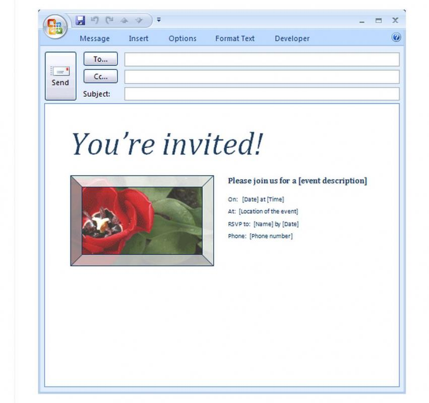 Email Invitation Template