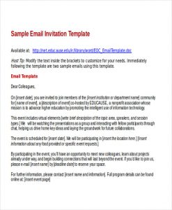 email invitation template sample business email invitation template