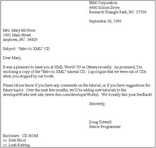 email letter format