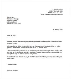 email resignation letter resignation email to clients
