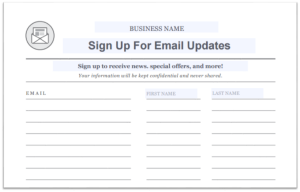 email sign up sheet template grow your email list template x