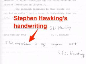 email signature college student hawking handwriting wide