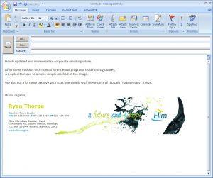 email signature design email