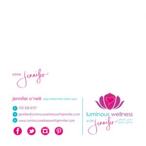 email signature design luminous wellness email signstationary