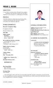 email signature for college student jhayson resume