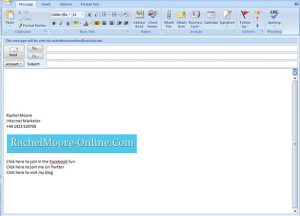 email signature format outlook email signature templates