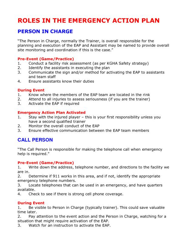 padi emergency action plan template - emergency action plan template template business