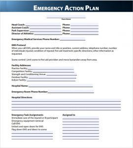 emergency action plan template final emergency action plan template