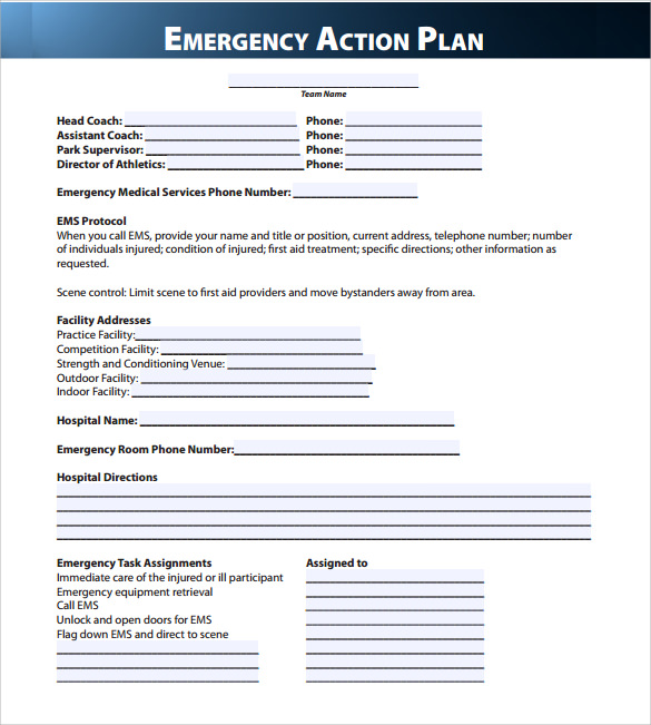 Emergency template akbaeenw emergency template emergency action plan template template business friedricerecipe