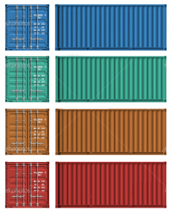 emergency contact template set of cargo containers