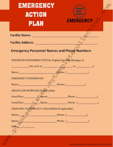 emergency plan template