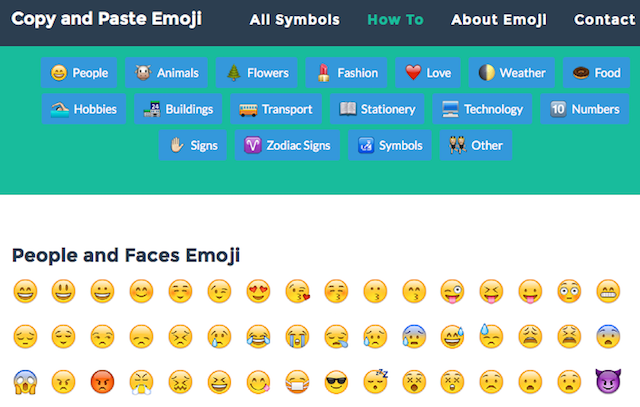 emoji faces copy and paste