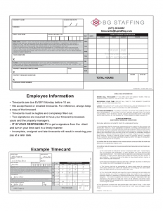 employee agreement form employee information example timecard l
