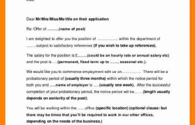 employee agreement form employee offer letter job employment offer letter