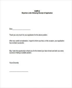 employee application pdf job application refusal letter