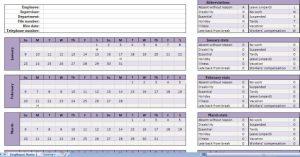employee attendance calendar employee attendance tracking calendar