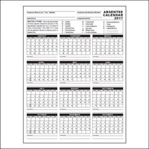 employee attendance calendar absentee calendar web