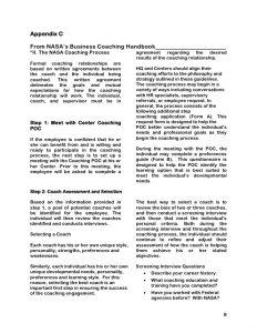 employee contract template internal coaching guide