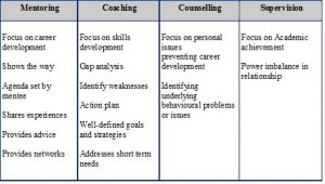 employee development plan templates mentoring table