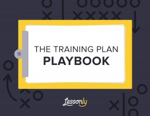 employee development plan templates trainingplanplaybook by lessonly cover