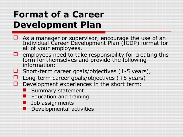 Employee Development Plans Templates  Employee Development Plan Template