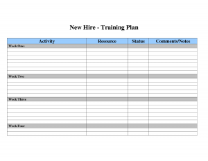 Employee Development Plans Templates Employee Training Plan Template Qvvzskc  Employee Development Plan Template
