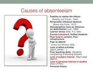 employee disciplinary form absenteeism by thierry mbenoun