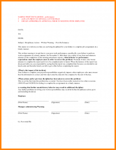 employee disciplinary form written warning template written warning template riromo