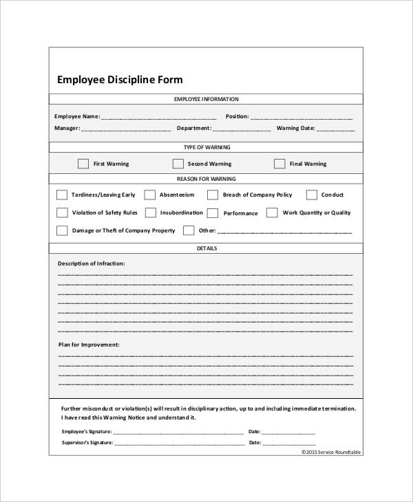employee disciplinary write up form template juve cenitdelacabrera co