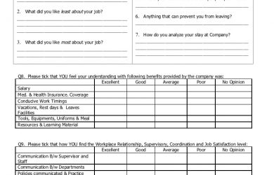 employee evaluation form pdf exit interview form by zeeshan moiez ali