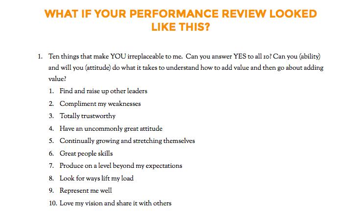 employee evaluation sample