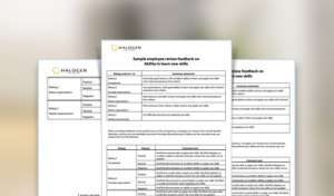 employee evaluation sample sample performance review comments