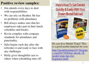 employee evaluation samples employee appraisal comments sample